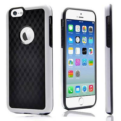 White Carbon Fiber Protective Back Box Case Bumper Skin for iPhone 6 Plus 5.5""