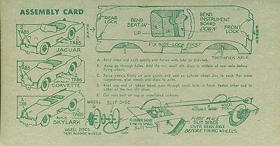 1956 Nabisco  Rin Tin Tin Card Assembly Card