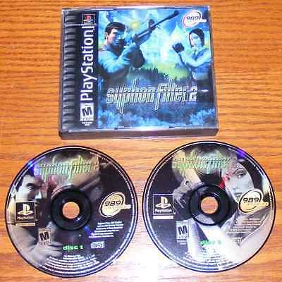 Syphon Filter 2 Black Label No Manual PS1, PS2, PS3 (Sony PlayStation 1, 2000)