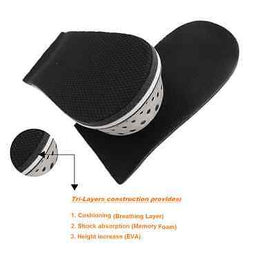Man Height Increase Heel Lift Inserts Half Shoe Insoles Cushion Elevation pads