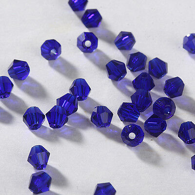 Free Ship DIY jewelry 100pcs 5301 Austria Crystal 3mm bicone Beads Dark blue