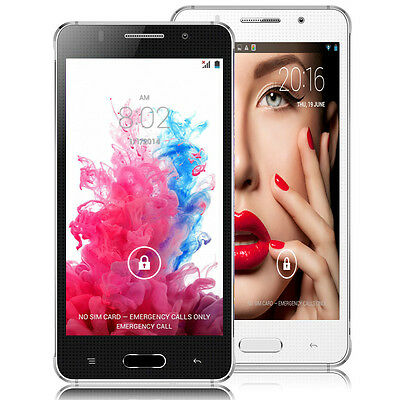 """5"""" Android  Dual Core Dual Sim 3G/GSM/WCDMA+ GPS Unlocked Smartphone AT&T"""