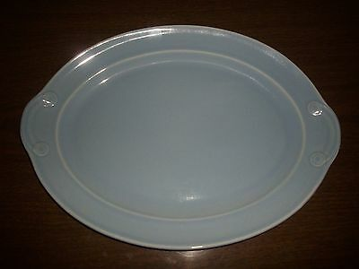 """EXCELLENT T.S & T. CO. LURAY WINDSOR BLUE 13"""" OVAL SERVING PLATTER 1943"""