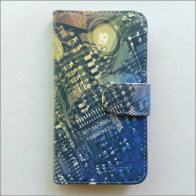 Brand new Circuit board wallet Flip case cover for Samsung/iphone/Nokia/HTC