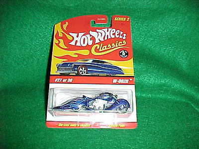 Hot Wheels CLASSICS  SERIES 2 - Blue W-OOZIE - #27 of 30 Motorcycle