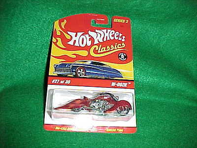 Hot Wheels CLASSICS  SERIES 2 - Red W-OOZIE - #27 of 30 Motorcycle