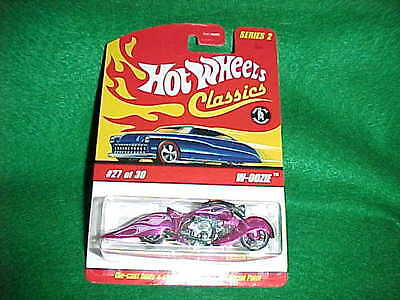 Hot Wheels CLASSICS  SERIES 2 - Pink W-OOZIE - #27 of 30 Motorcycle
