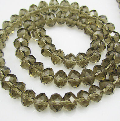 NEW for Jewelry Faceted 100pcs Rondelle crystal #5040 3x4mm Beads Gray colors