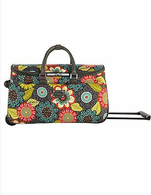 """Brand new w/tags~Vera Bradley 22"""" Rolling Duffel~Flower Shower~SOLD OUT!!"""