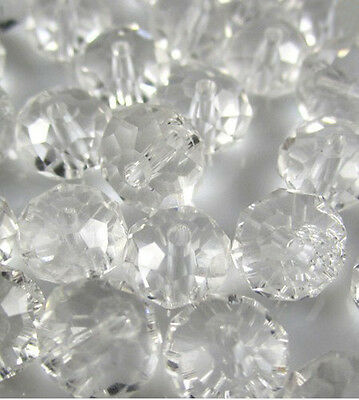 NEW DIY Jewelry Faceted 100pcs Rondelle crystal #5040 3x4mm Beads Clear colors