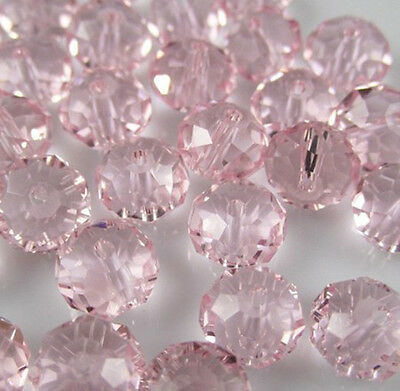 NEW DIY Jewelry Faceted 100pcs Rondelle crystal #5040 3x4mm Beads Pink colors