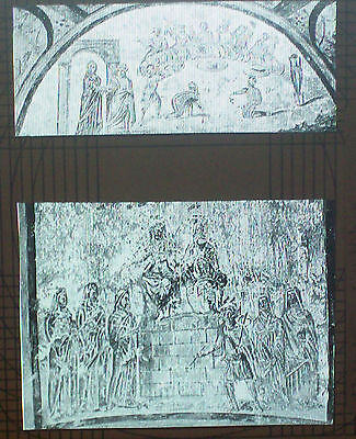 Copy of Early 4th Century Christian Painting, Magic Lantern Glass Slide