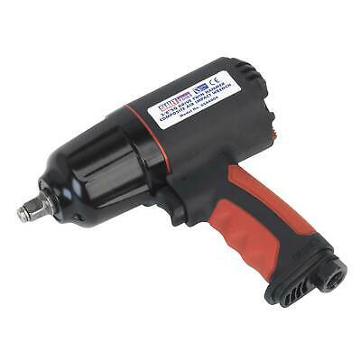 """Sealey Composite Air Impact Wrench - 3/8""""Square Drive Twin Hammer - GSA6000"""