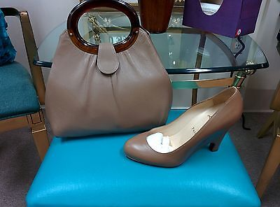 Christian Louboutin taupe 8.5 pre-owed