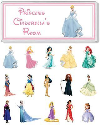 Disney Princess Personalised Bedroom Door Plaque / Sign *ANY NAME / MESSAGE*
