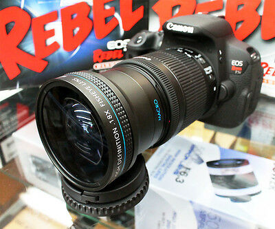 New 0.18x Super Wide Angle Macro Fisheye Lens For Canon EOS Digital Rebel Camera