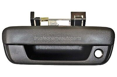 Black Textured With Keyhole Liftgate Lift Gate Tailgate Handle Rear