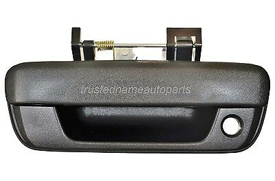 Black Textured With Keyhole Liftgate Tailgate Handle Rear