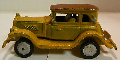 "Vintage Hand Painted Cast Iron Car 5.25"" x 2.5"" Very Good Condition"