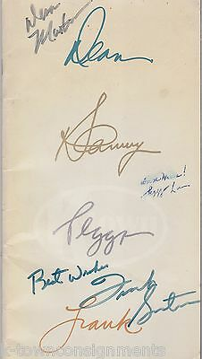 DEAN MARTIN FRANK SINATRA PEGGY LEE RAT PACK AUTOGRAPH SIGNED RADIO CITY PROGRAM