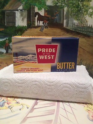 Vintage 1950's Dairy Collectible Pride of the West Butter Container.