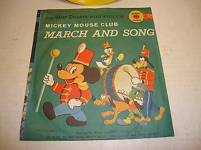 Mickey Mouse Club Official March and Song 78 RPM Record D222 Yellow Vinyl