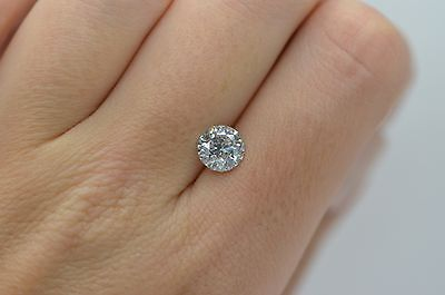EGL Certified - 1.58 CT D SI2 Round VG Cut Natural loose diamond Engagement Ring