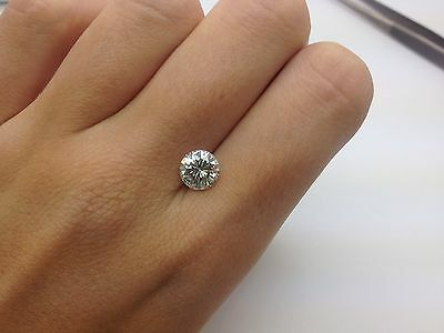 EGL -1.60 CT H SI2 Round VG Cut Certified Natural Loose Diamond Engagement Ring