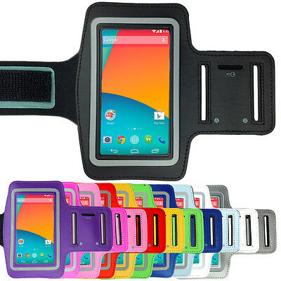 Sports Gym Running Exercise Armband Arm Band Pouch Case for LG Google Nexus 5 4