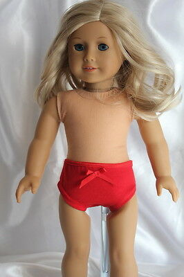 Panties made for 18inch American Girl Doll Clothes Red