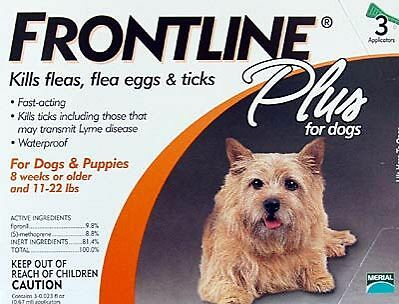 Frontline Plus for Dogs 0 - 22 lbs  (6 Month Supply) NEW(2)