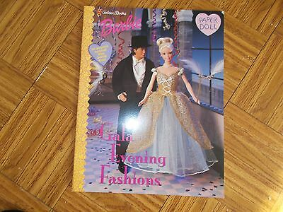GOLDEN BOOKS BARBIE PAPER DOLLS GALA EVENING FASHIONS 1998