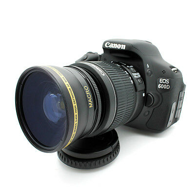 NEW 58MM 0.43X HD Wide Angle Macro Lens for Canon Eos Digital Rebel SL1 T5i XTi