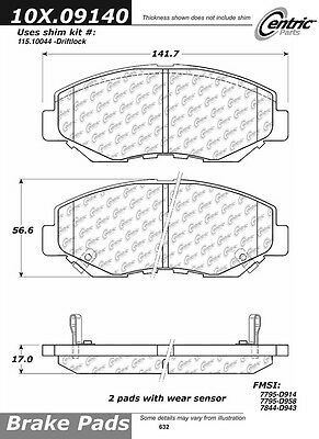 Disc Brake Pad-Posi-Quiet Extended Wear w/Shims & HrdWr Front fits 03-14 Accord