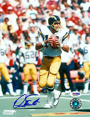 DAN FOUTS SIGNED PSA/DNA COA 8X10 PHOTO AUTO AUTOGRAPHED SAN DIEGO CHARGERS P2