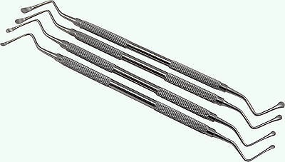 LUCAS BONE CURETTES Set of 4  Dental Instruments implant Surgical