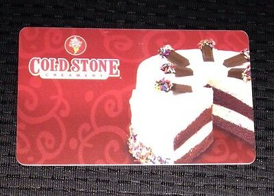 "COLD STONE CREAMERY ""BIRTHDAY CAKE"" COLLECTIBLE GIFT CARD NO VALUE NEW Ice Cream"