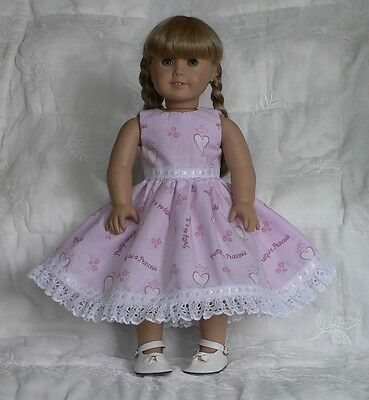 Doll Clothes -  Fits American Girl -  Pink Princess Valentine Dress