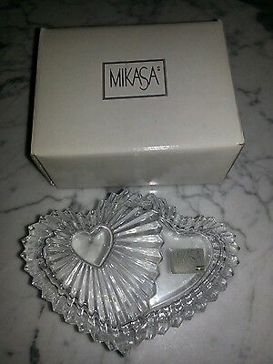 Mikasa  Crystal Covered Heart Box