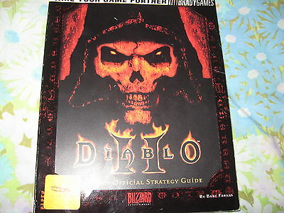 Diablo 2 II Official Strategy Guide Farkas Video Computer Game Guide ONLY Brady