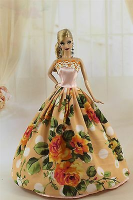 Fashion Princess Party Dress/Wedding Clothes/Gown For Barbie Doll y31P