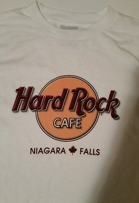 Hard Rock Cafe Niagara Falls Large White T-Shirt Made In The USA Rock & Roll