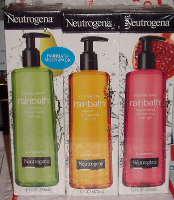 Neutrogena Rainbath Shower Gel Multi-pack Original, Pear Green Tea, Pomegranate