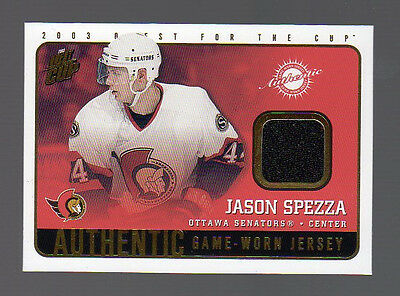 2002-03 QUEST FOR THE CUP JERSEY JASON SPEZZA #14
