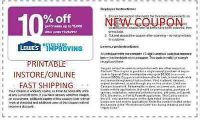 1 NEW LOWES 10% OFF - INSTORE/ONLINE -  Exp 4/26/15