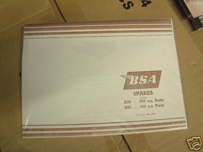 BSA A50 A65 1962 Parts Book Reprint NEW