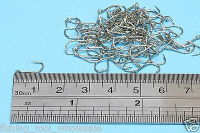 Pack No: 3 - 100 Pcs Silver Hook Brand-New Fishing   Terminal Tackle   Hooks