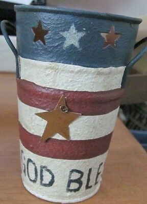 Primitive Country Metal God Bless America Bucket #2091