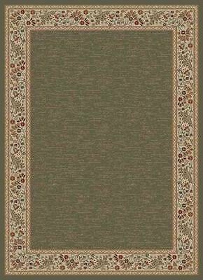 "GREEN FLORAL VINE BORDER PERSIAN 5x8 AREA RUG ORIENTAL - ACTUAL 5' 3"" x 7' 3"""