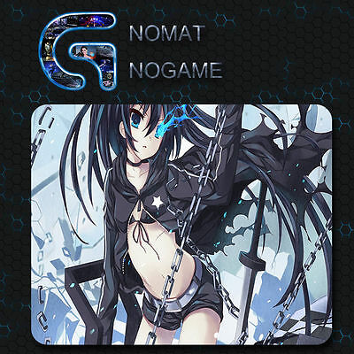 Anime Black Rock Shooter Mice Mat Mouse Pad Gaming For PC Laptop Custom 20*24cm